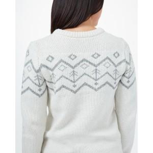 Highline Wool Intarsia Sweater Womens Elm White Heather