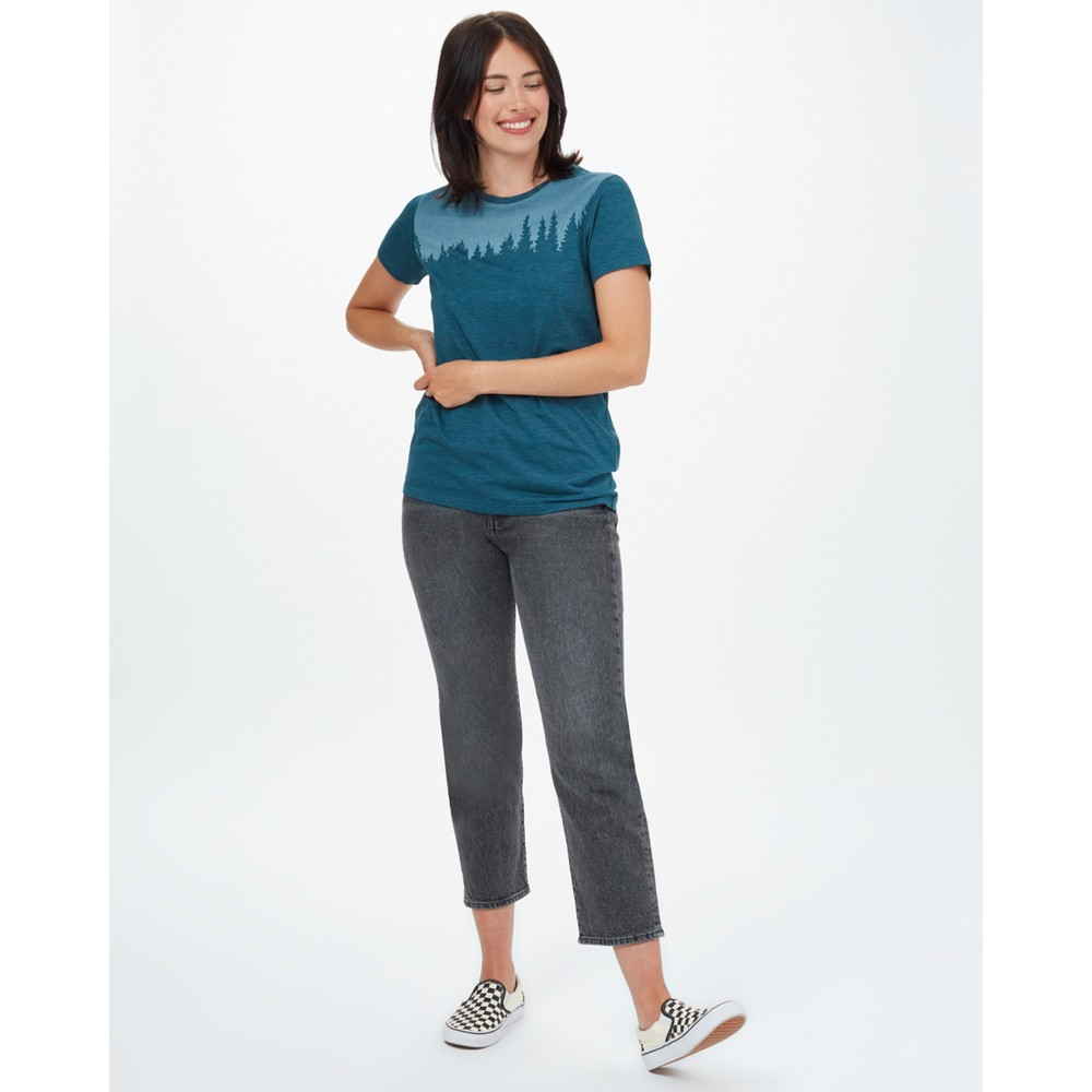tentree Juniper Classic T-Shirt Womens Deep Teal Heather