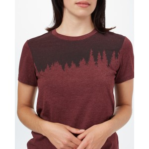 Juniper Classic T-Shirt Womens Red Mahogany Heather