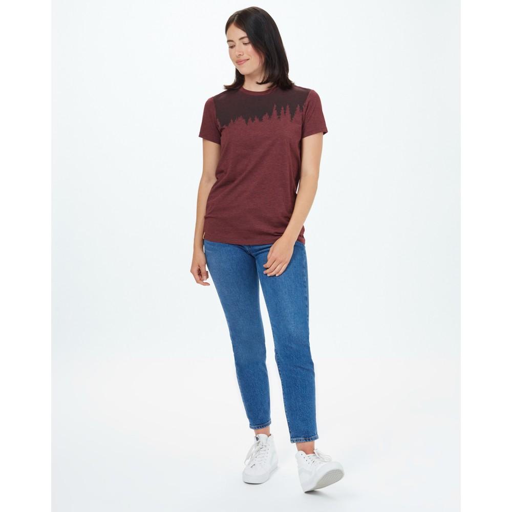 tentree Juniper Classic T-Shirt Womens Red Mahogany Heather