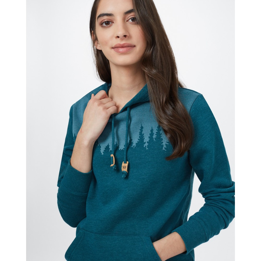 tentree Juniper Hoodie Womens Deep Teal Heather