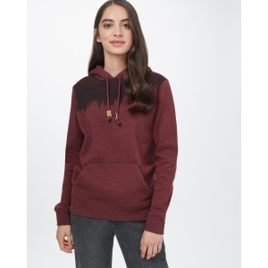 tentree Juniper Hoodie Womens in Red Mahogany Heather