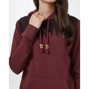 Juniper Hoodie Womens Red Mahogany Heather