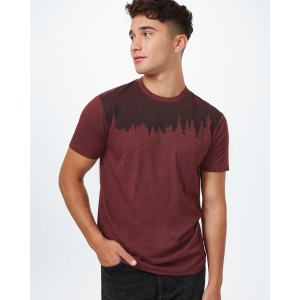 tentree Juniper Classic T-Shirt Mens in Red Mahogany Heather
