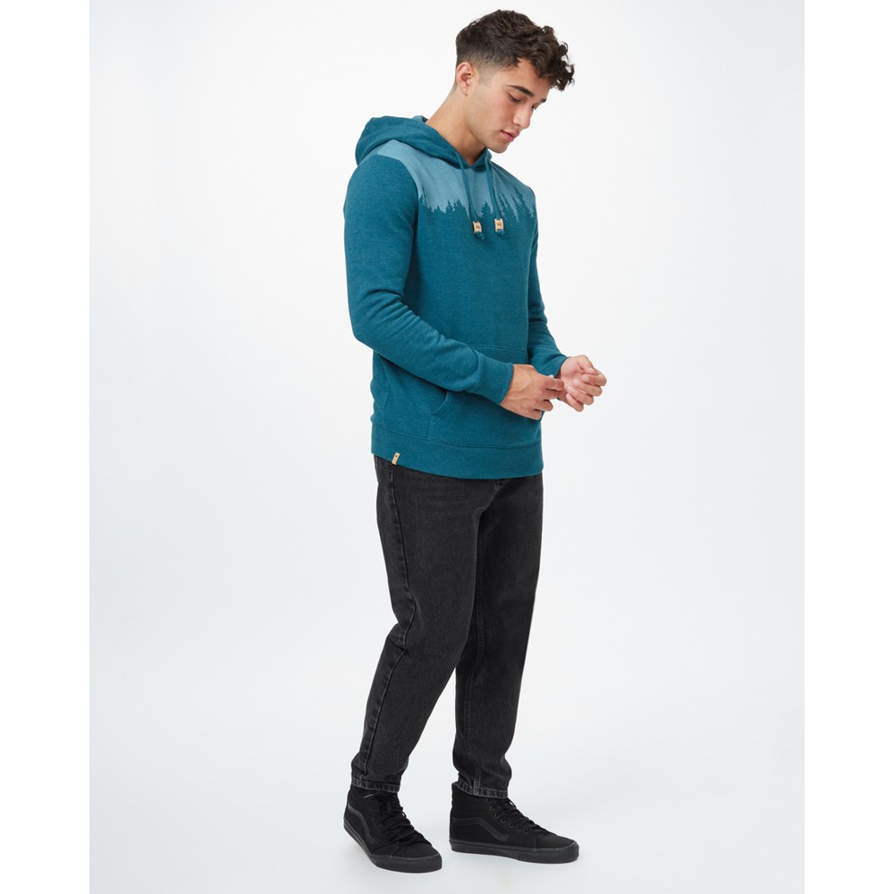 tentree Juniper Hoodie Mens Deep Teal Heather