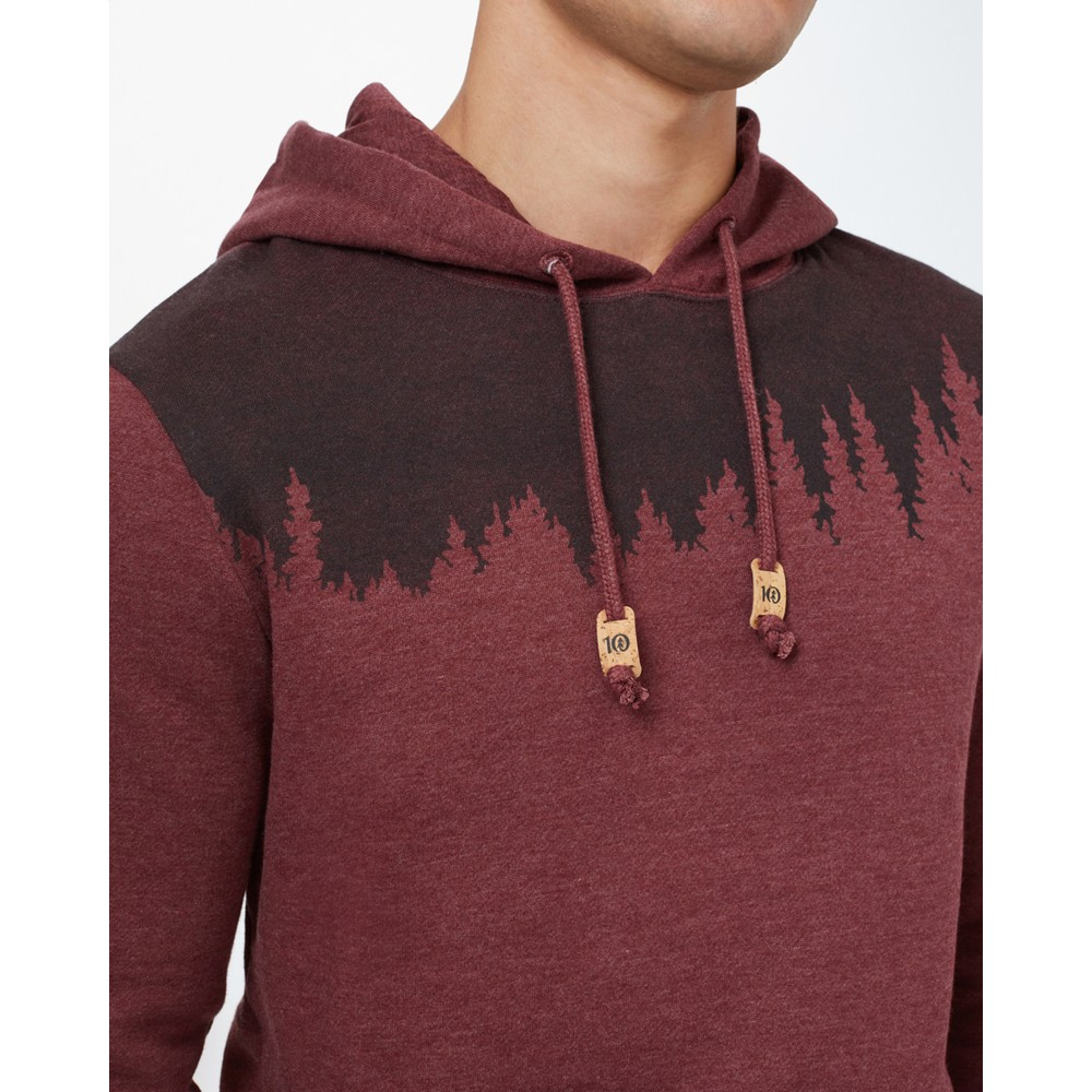 tentree Juniper Hoodie Mens Red Mahogany Heather