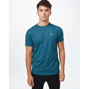 tentree TreeBlend Classic T-Shirt Mens in Deep Teal Heather