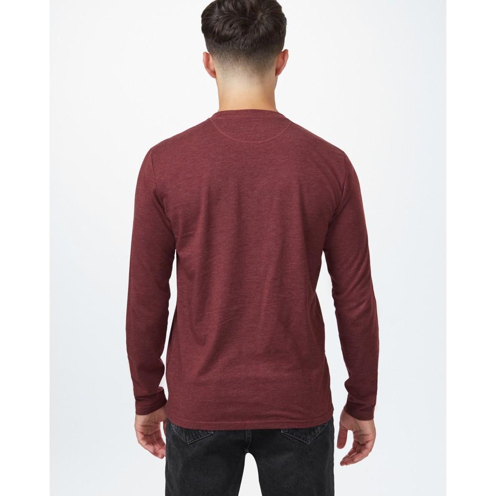 tentree TreeBlend Classic Longsleeve Shirt Mens Red Mahogany Heather