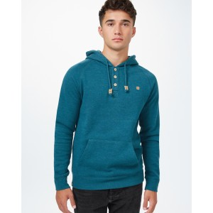 tentree Oberon Hoodie Mens in Deep Teal Heather