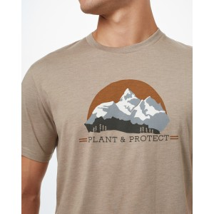 Plant & Protect Classic T-Shirt Mens Desert Taupe Heather