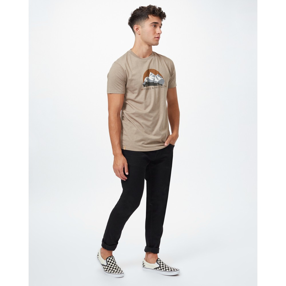 tentree Plant & Protect Classic T-Shirt Mens Desert Taupe Heather