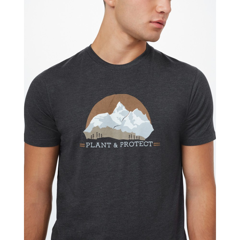 tentree Plant & Protect Classic T-Shirt Mens Meteorite Black Heather