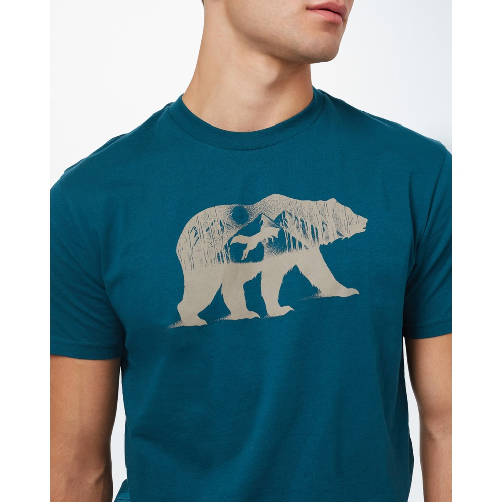 tentree Den Cotton Classic T-Shirt Mens Deep Teal