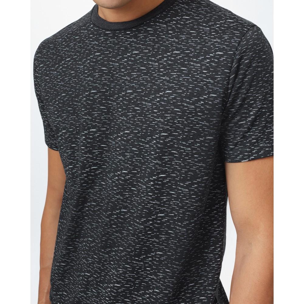 tentree Birch Classic T-Shirt Mens Meteorite Black Heather Birch Print