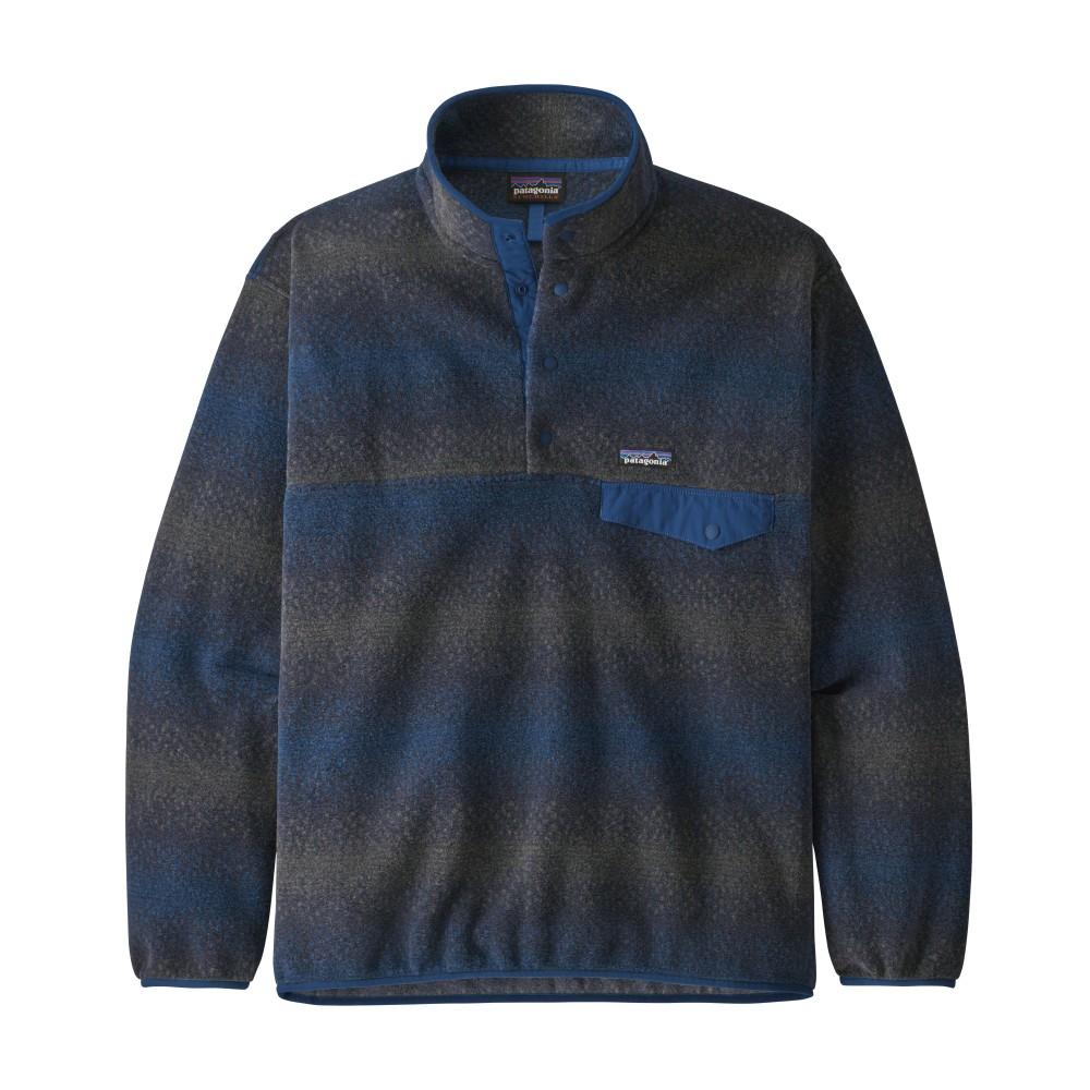 Patagonia Synchilla Snap-T Pullover Mens Gem Stripe: New Navy