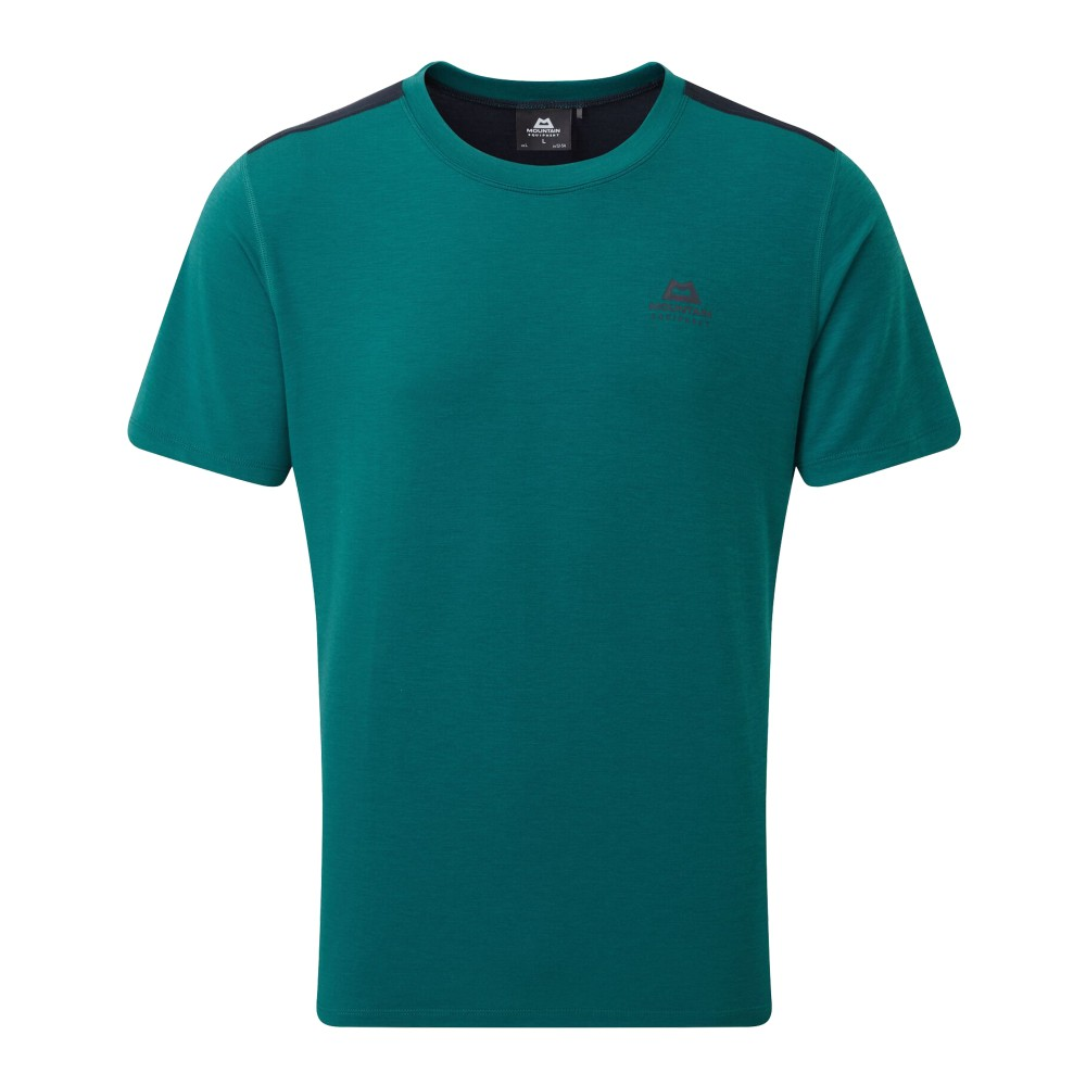 Mountain Equipment Groundup Colourblock Tee Mens Spruce/Cosmos