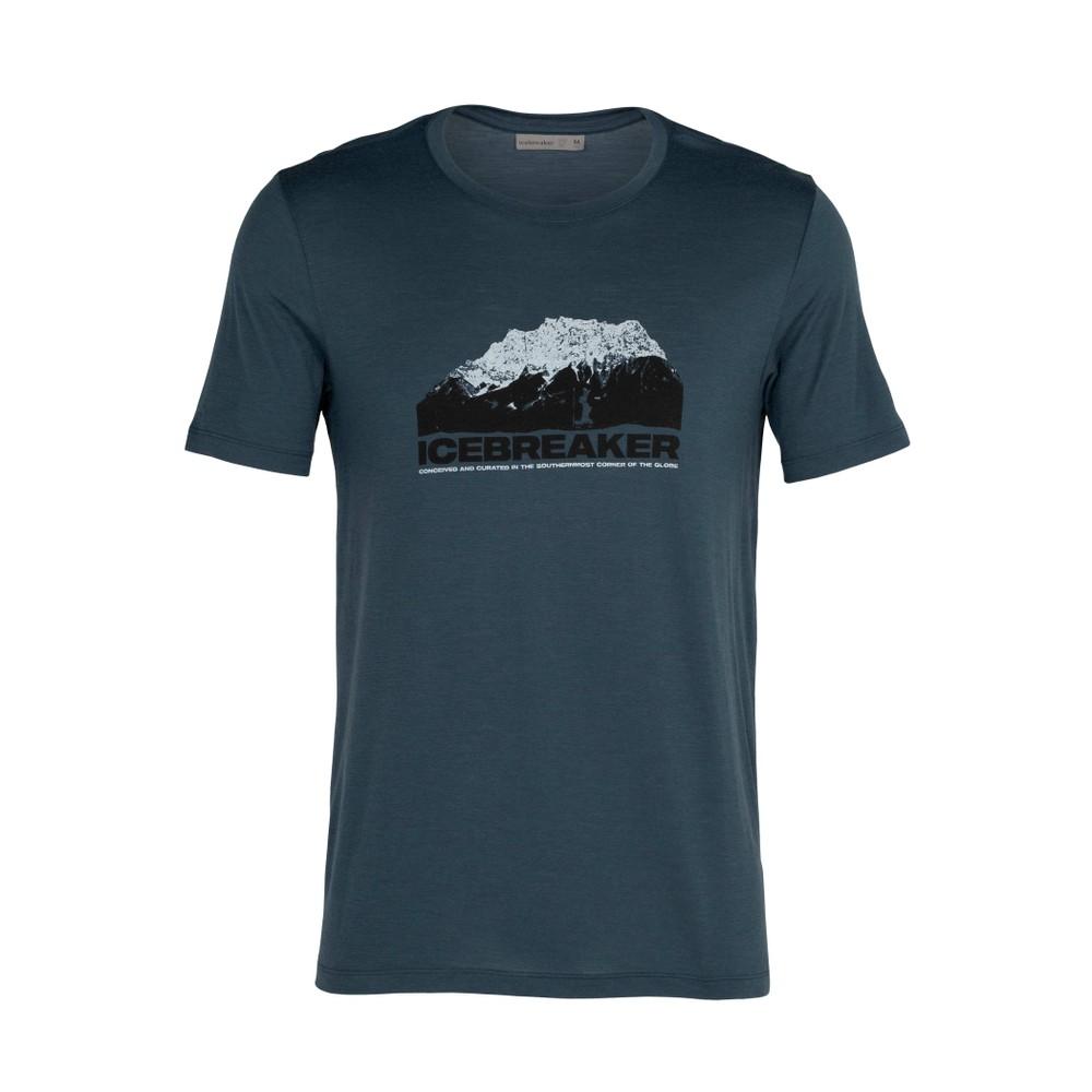 Icebreaker Tech Lite SS Crew  Mountain Mens Serene Blue