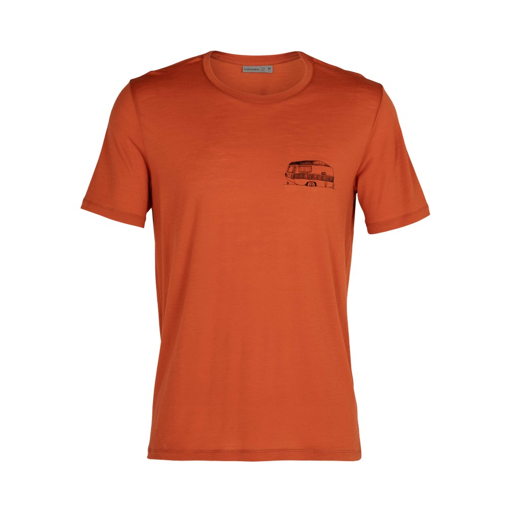 Icebreaker Tech Lite SS Crew The Good Life Mens Roote