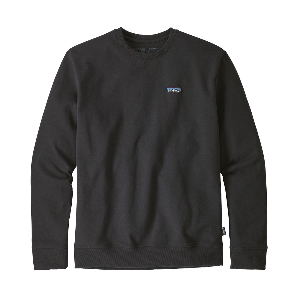 Patagonia P-6 Label Uprisal Crew Sweatshirt Mens Black