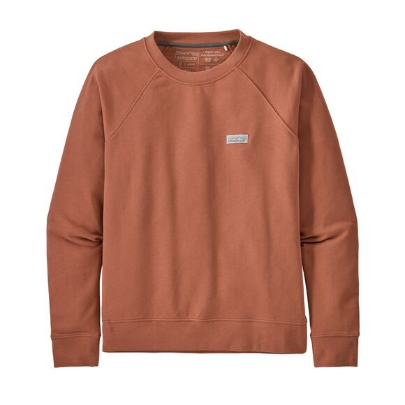 Patagonia Pastel P-6 Label Organic Crew Sweatshirt Womens Century Pink