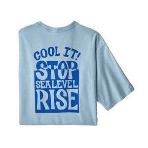 Stop the Rise Responsibili-Tee Mens Fin Blue