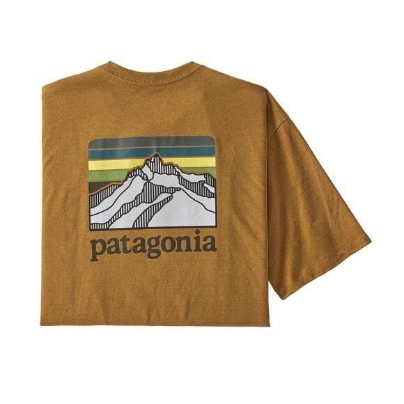 Patagonia Line Logo Ridge Pocket Responsibili-Tee Mens Buckwheat Gold