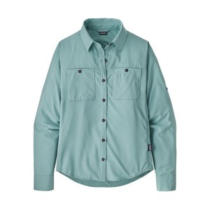 Patagonia LS Self Guided Hike Shirt Womens in Upwell Blue