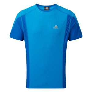 Mountain Equipment Ignis Tee Mens in Finch Blue/Lapis