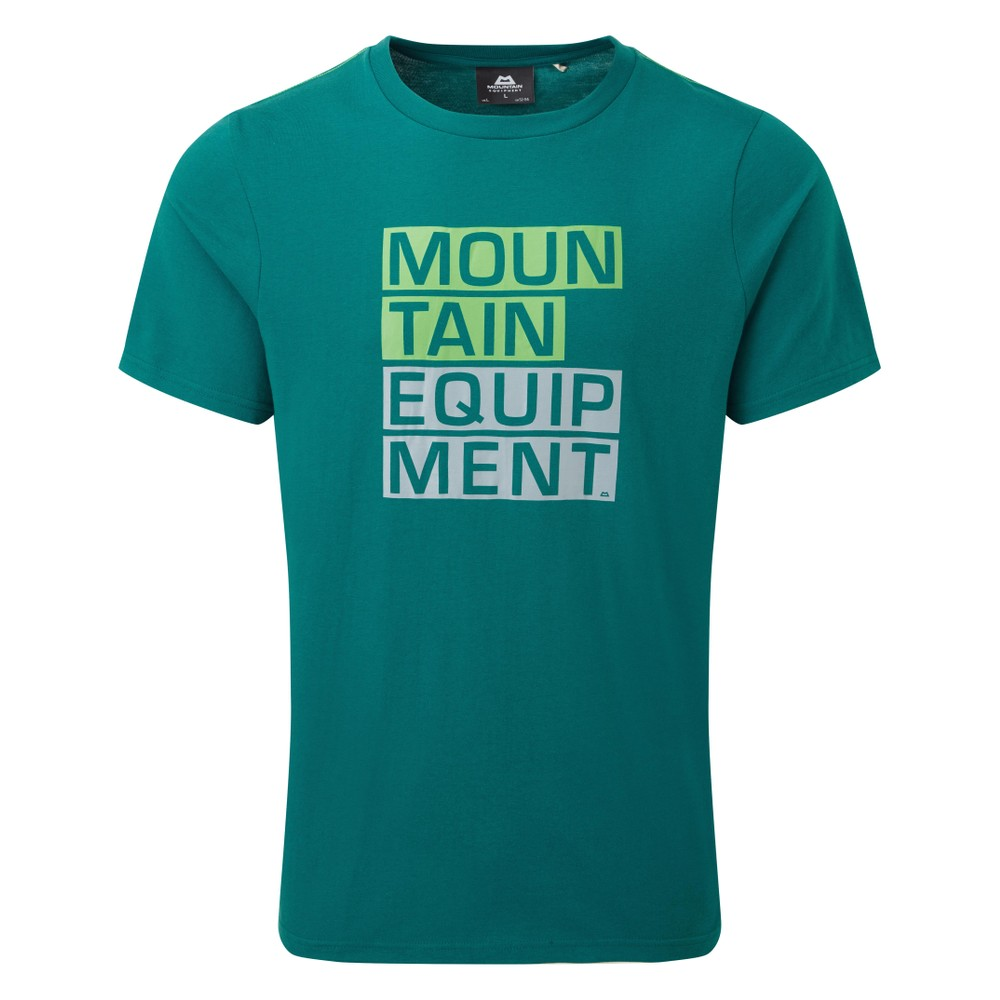 Mountain Equipment Block Letter Tee Mens Spruce