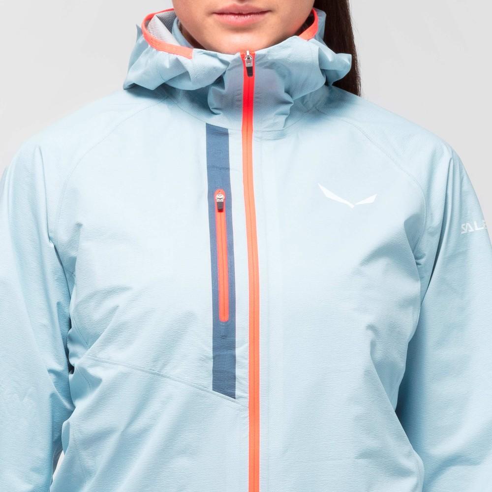 Salewa Puez Light PTX Jacket Womens Blue Fog