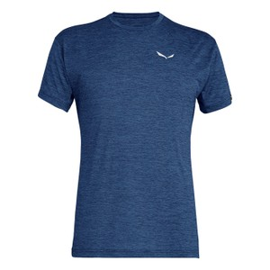 Salewa Puez Melange Dry SS Tee Mens in Dark Denim Melange
