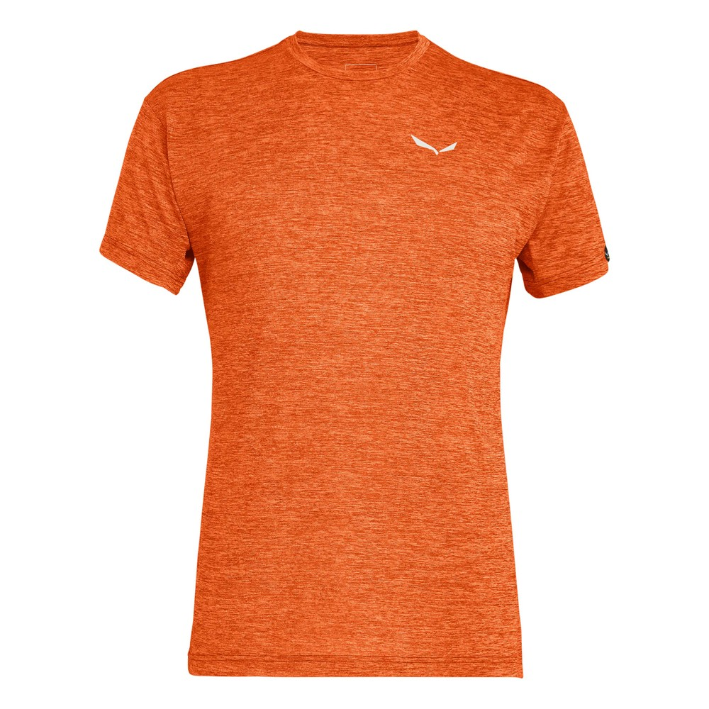 Salewa Puez Melange Dry SS Tee Mens Red Orange Melange