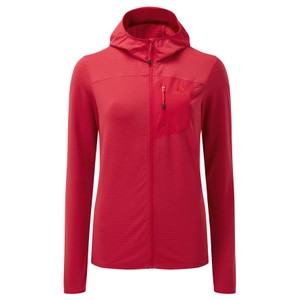 Lumiko Hooded Jacket Womens Capsicum Red