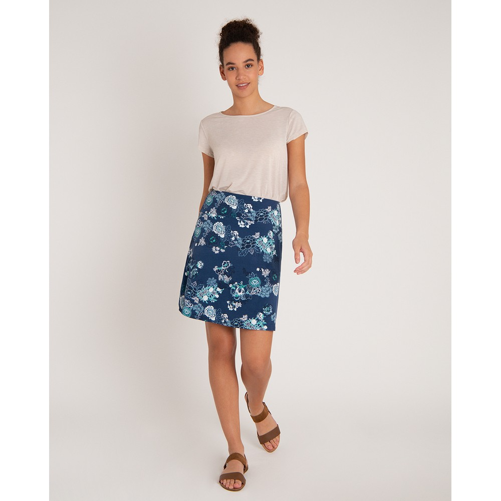 Sherpa Padma Pull-On Skirt Womens Neelo Print