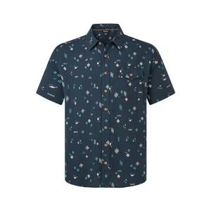 Kiran Short Sleeve Shirt Mens Neelo Blue Geo