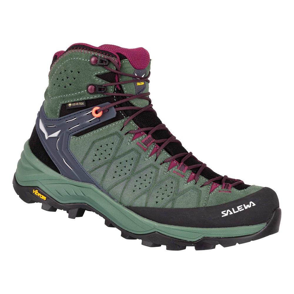 Salewa Alp Trainer 2 Mid GTX Womens Duck Green/Rhododendron