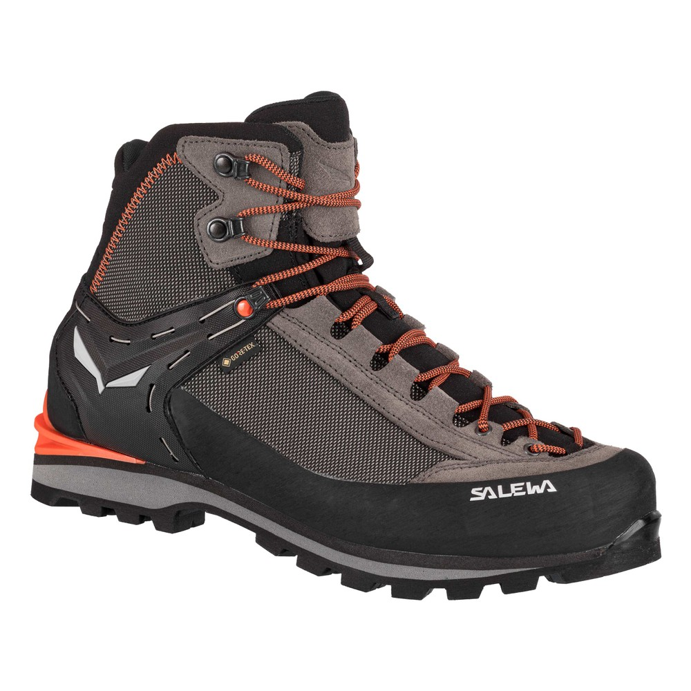 Salewa Crow GTX Mens Wallnut/Fluo Orange