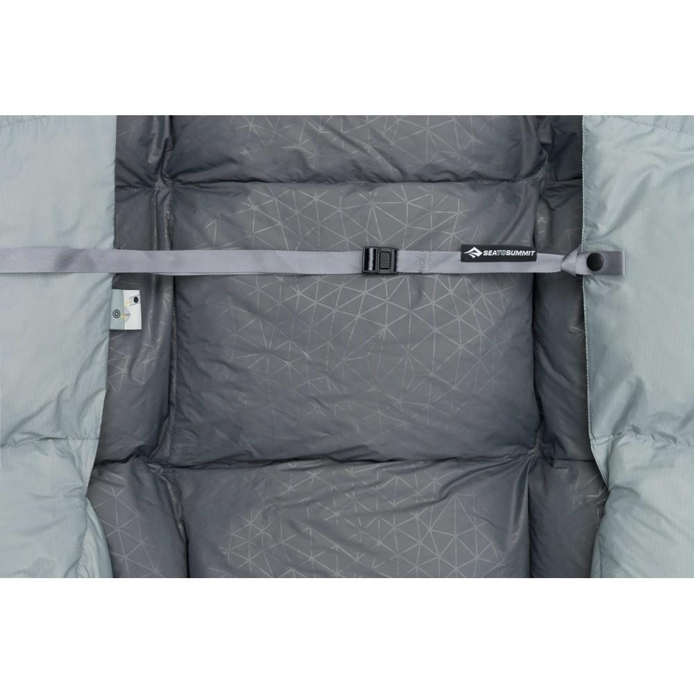 Sea To Summit Cinder Cd1 - Integrated Down Quilt regular Pale Grey/Dark Grey