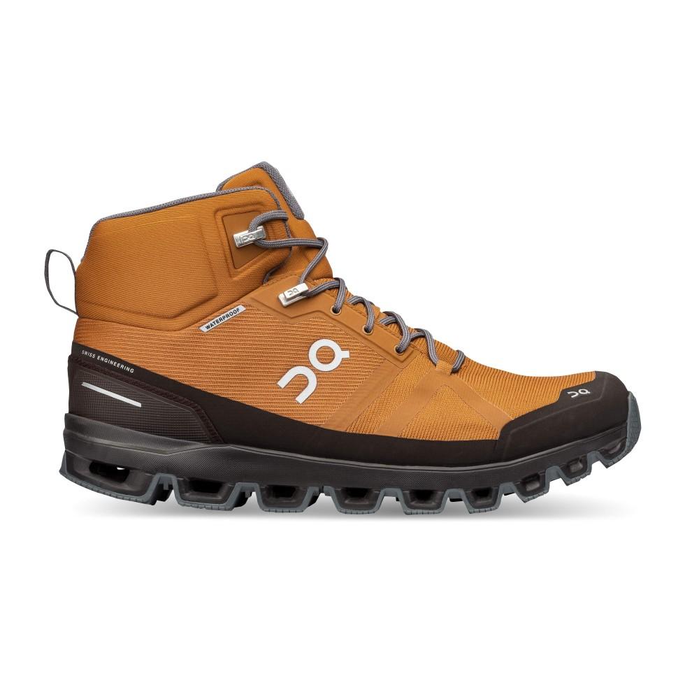 On Running Cloudrock Waterproof Mens Pecan/Brown