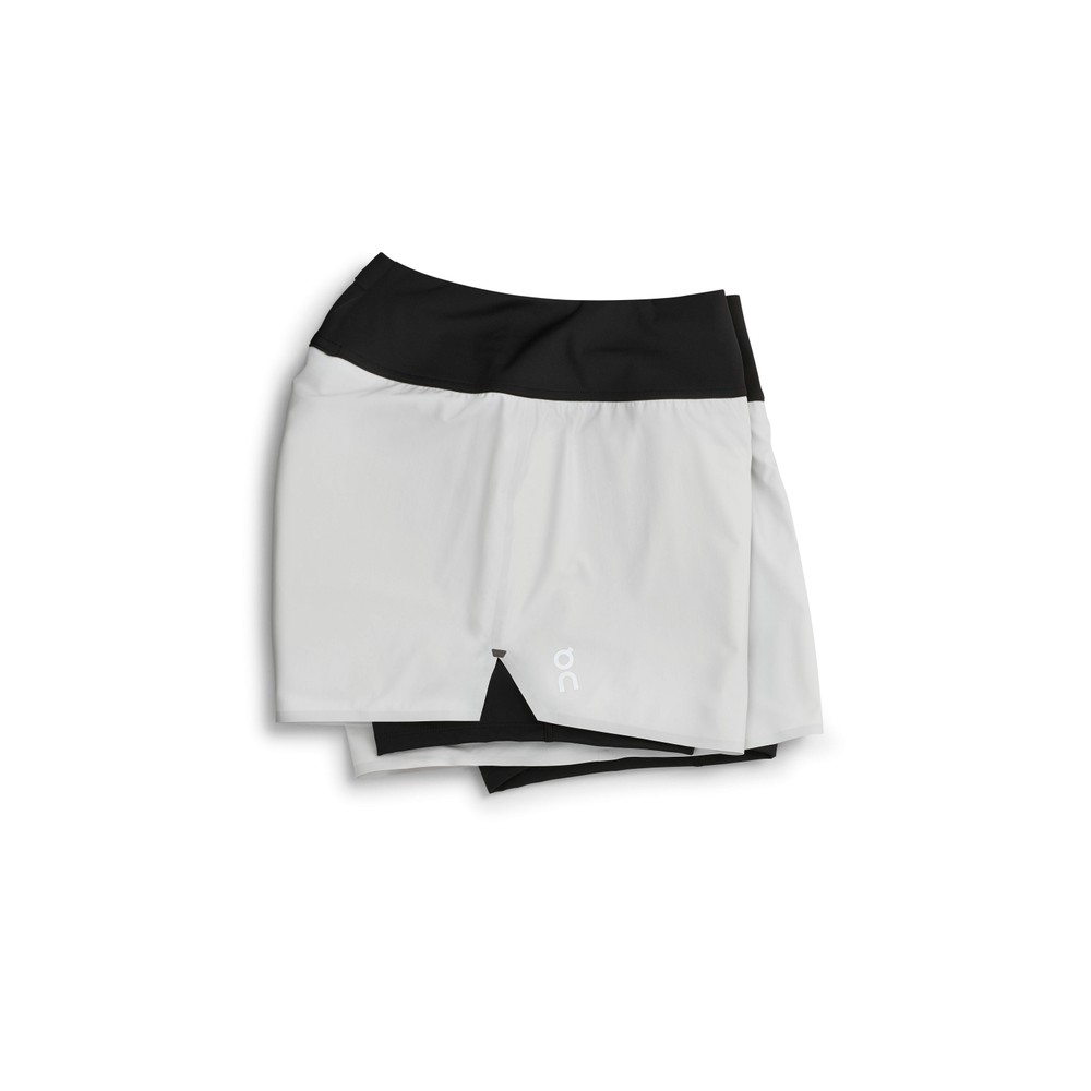 On Running Running Shorts Womens Glacier/Black