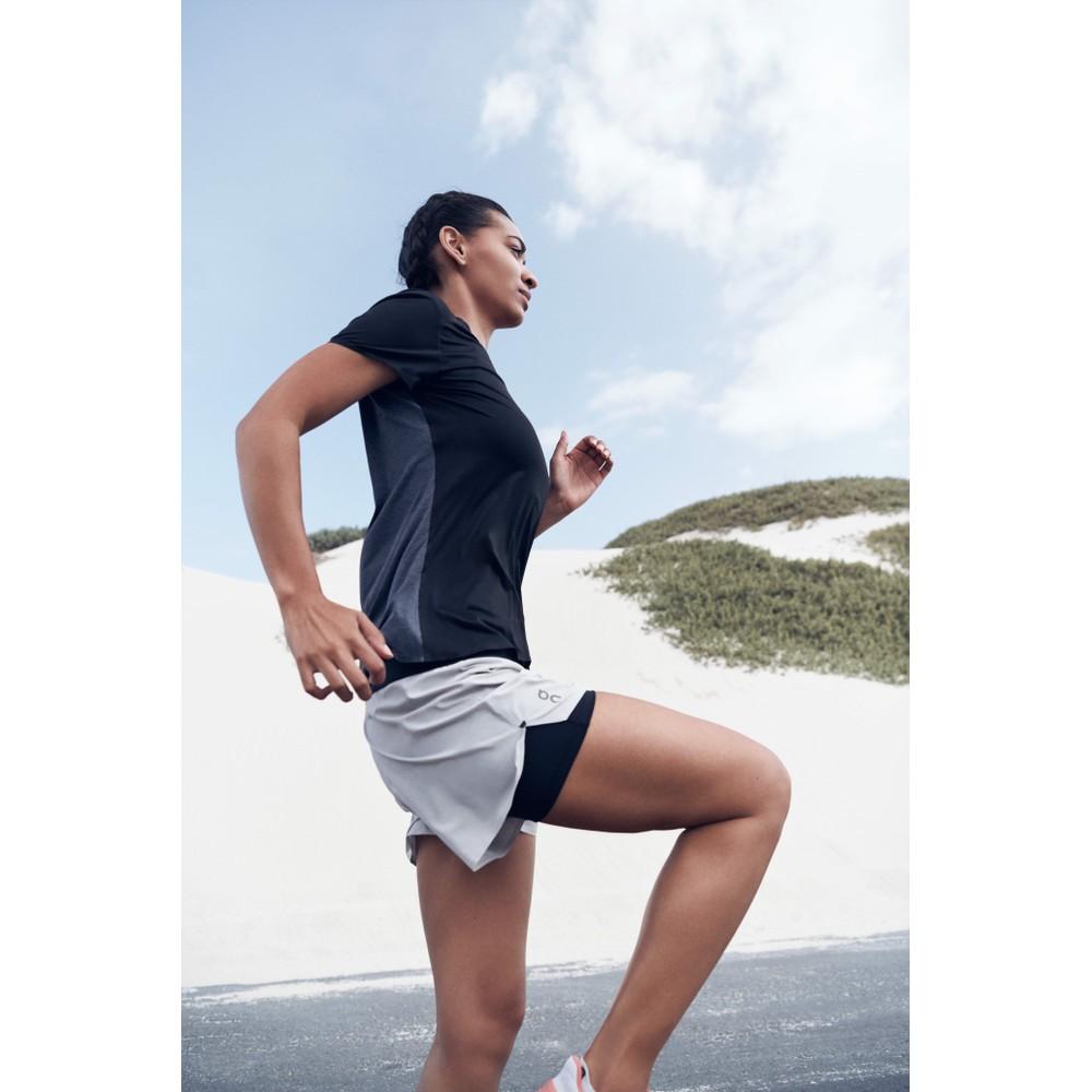 On Running Running Shorts Womens Glacier/Black