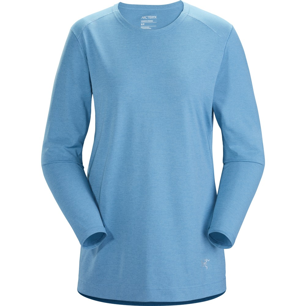 Arcteryx Quadra Crew LS Womens Lumina Heather