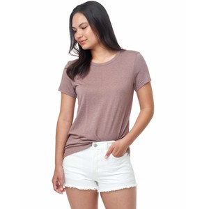 tentree Treeblend Classic T-Shirt Womens in Twilight Mauve Heather