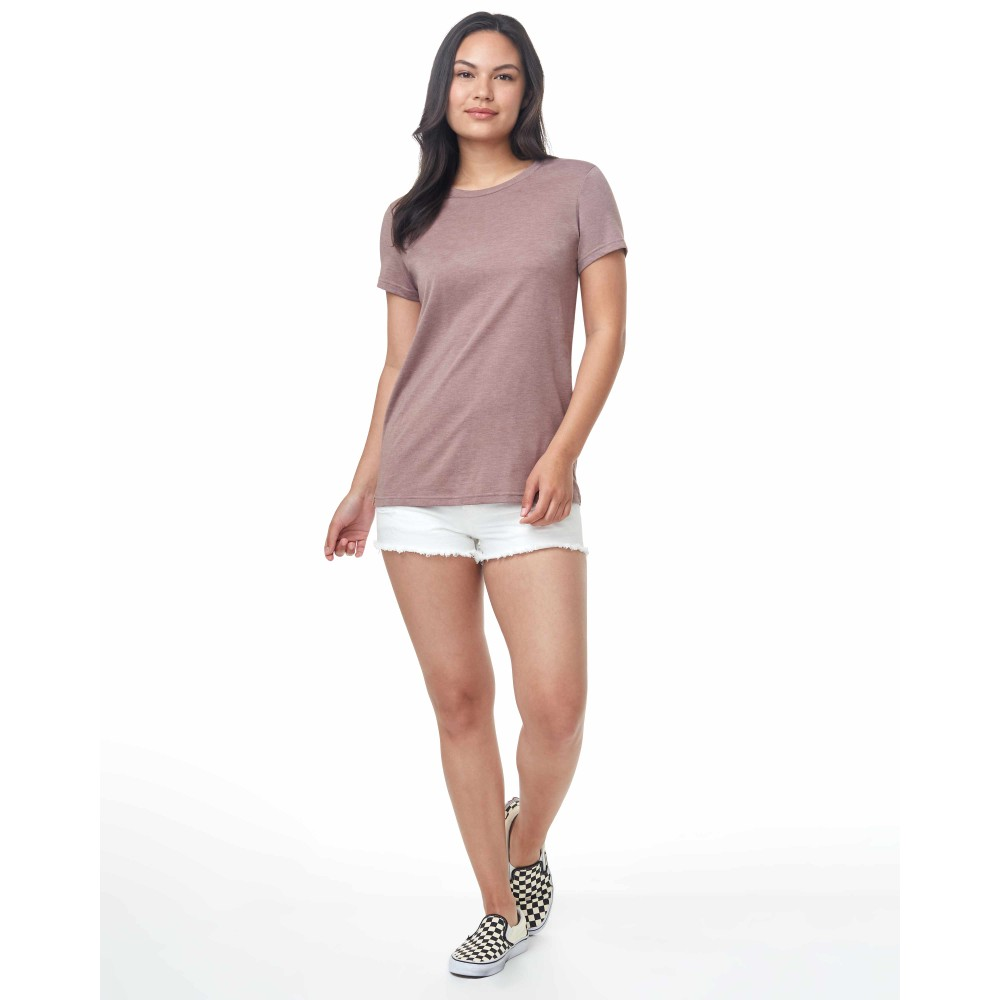 tentree Treeblend Classic T-Shirt Womens Twilight Mauve Heather