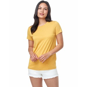 tentree Treeblend Classic T-Shirt Womens in Honey Gold Yellow Heather