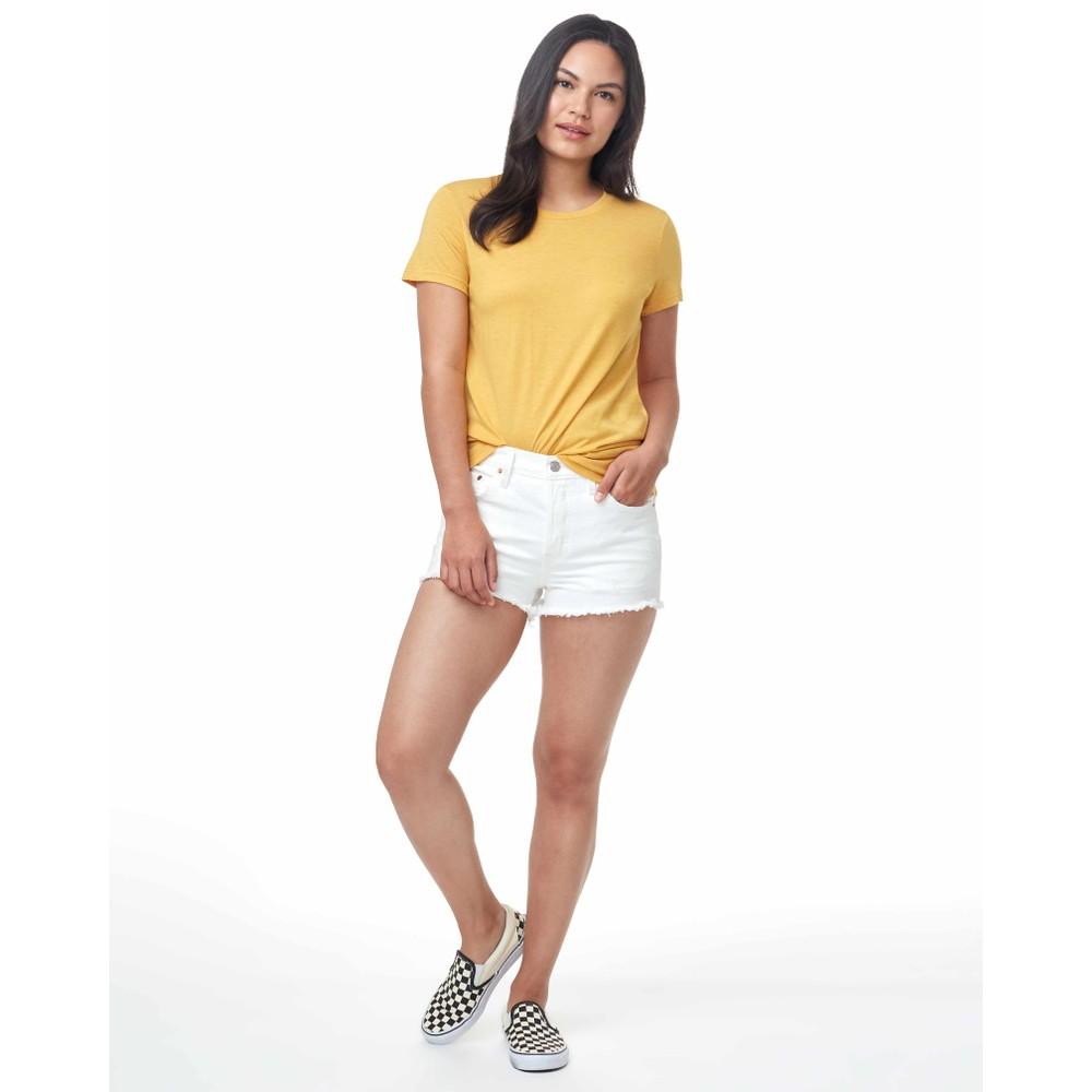 tentree Treeblend Classic T-Shirt Womens Honey Gold Yellow Heather