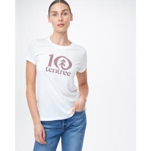 tentree tentree Logo Classic T-Shirt Womens in White