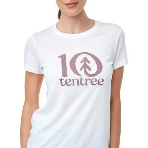 tentree Logo Classic T-Shirt Womens White