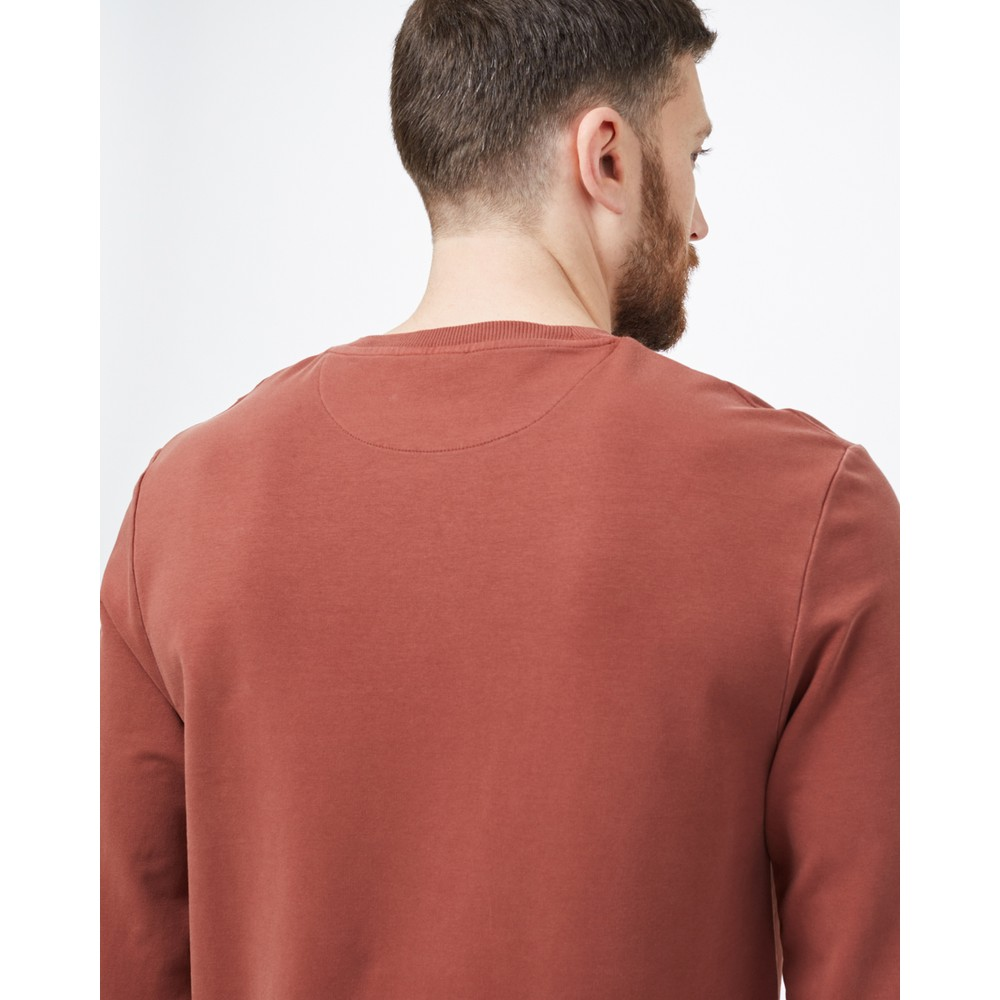 tentree French Terry Classic Crew Mens Cherry Mahogany