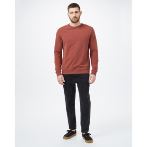 tentree French Terry Classic Crew Mens in Cherry Mahogany
